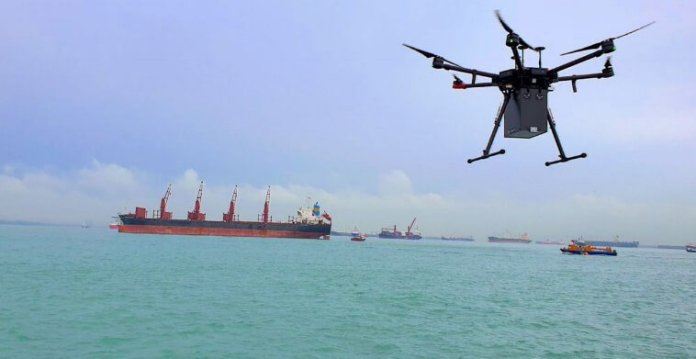 F-drones Completes First Industrial Past-Visible- Line-of-Sight (BVLOS) Drone Supply in Singapore - sUAS Information 1