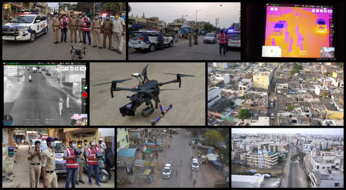 Cyient Supplies Drone-Based mostly Surveillance Expertise to assist Cyberabad Police in implementing COVID-19 Lockdown - sUAS Information 1