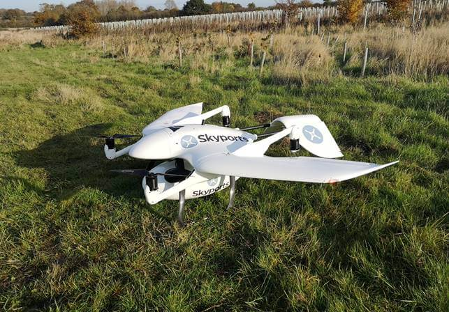 Drone supply service supplier Skyports joins UK CAA Regulatory Sandbox to trial BVOS flights in non-segregated airspace - sUAS Information 3