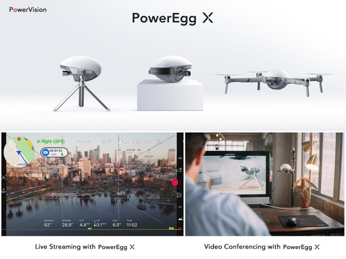 PowerVision Unveils New Livestream, Video Conferencing Capabilities for Poweregg X Drone - sUAS Information 1