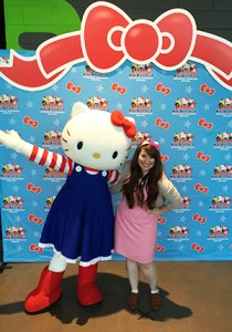 Hilary with Hello Kitty
