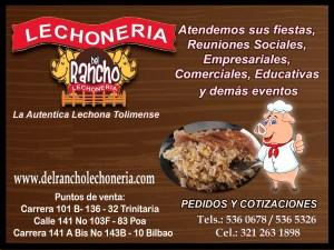 Nota patrocinada por: Del Rancho Lechonería en Suba