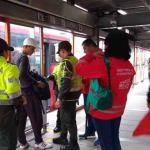 Policía revela reducción del 76% de delitos en TransMilenio