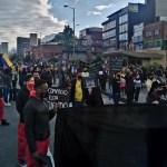 Inician protestas de comerciantes en San Victorino