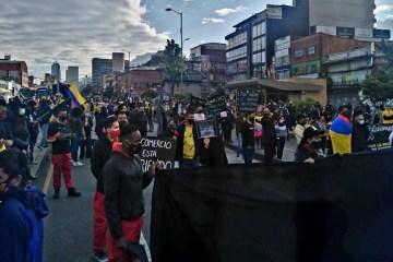 Inician protestas en San Victorino en el centro de la ciudad