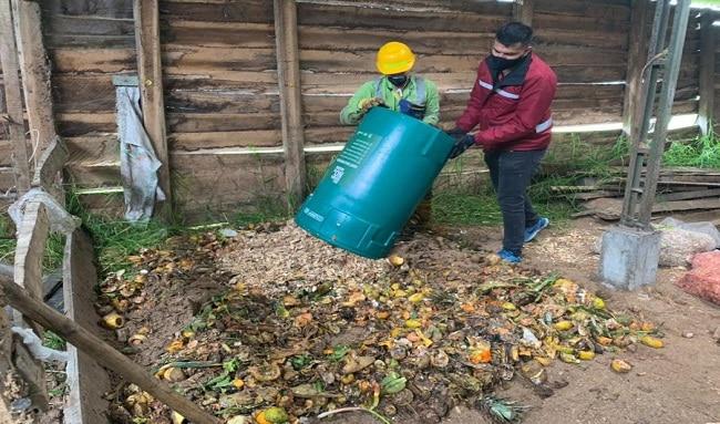 Localidad de Suba tiene una nueva ruta de recolección de residuos orgánicos