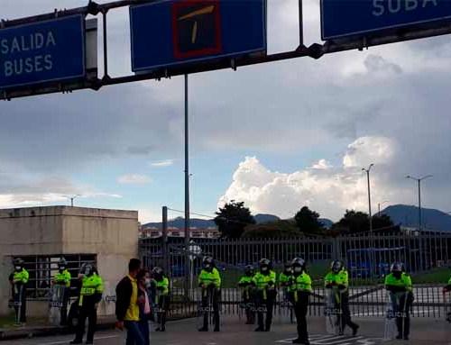 Cierran el Portal de Suba por manifestaciones