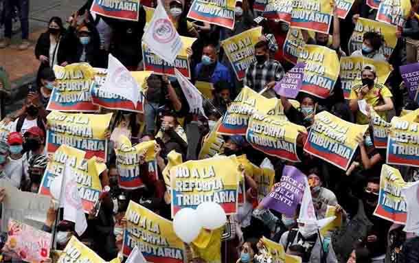 Canal RCN, la Casa de Nariño y 16 puntos más en las marchas de este sábado en Bogotá