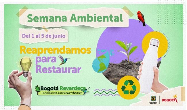 La Secretaría de Ambiente de Bogotá celebrará la Semana Ambiental del 1 al 5 de junio