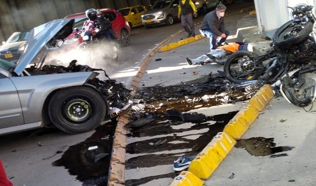 Impresionante accidente de motociclistas quedó registrado en un video en la localidad de Barrios Unidos