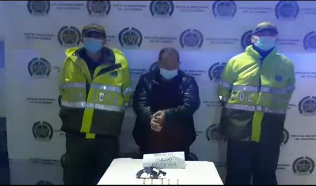Capturado sujeto que intimidó a varias personas con arma de fuego en Suba