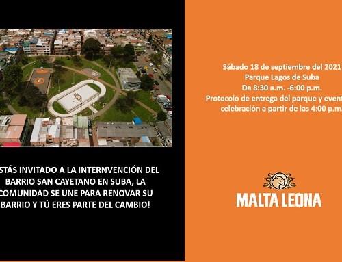 Comunidad se une para renovar los parque Lagos en Suba y barrio San Cayetano con el apoyo de Malta Leona