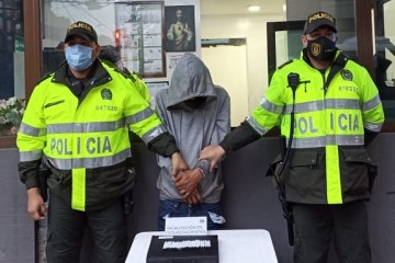 Capturan sujeto por el delito de tráfico, fabricación o porte de estupefacientes cerca al portal de Suba
