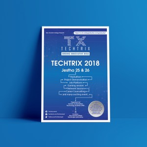 Tech-Trix 2018 Poster Design by Subarna Bhandari