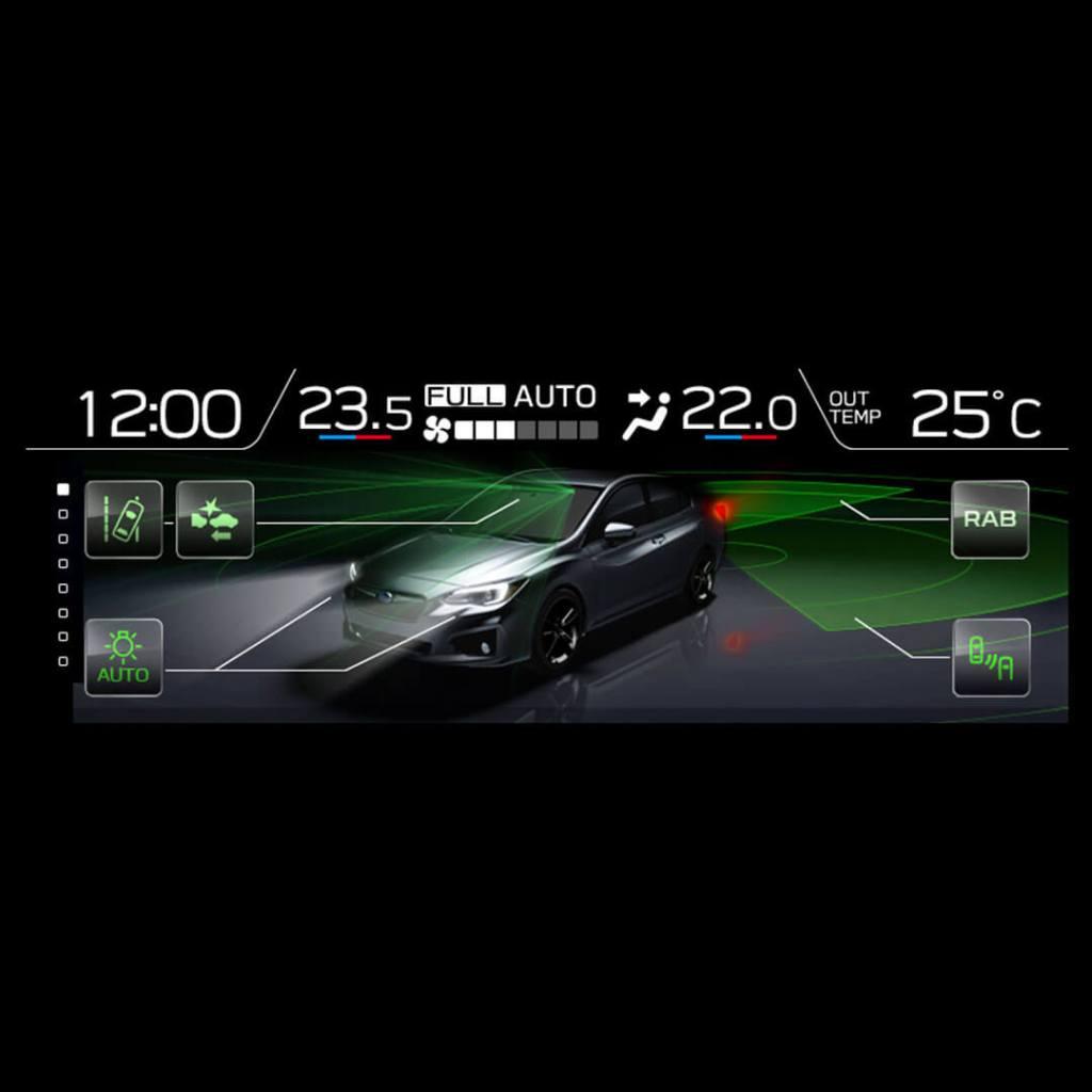 Subaru Multifunction Display