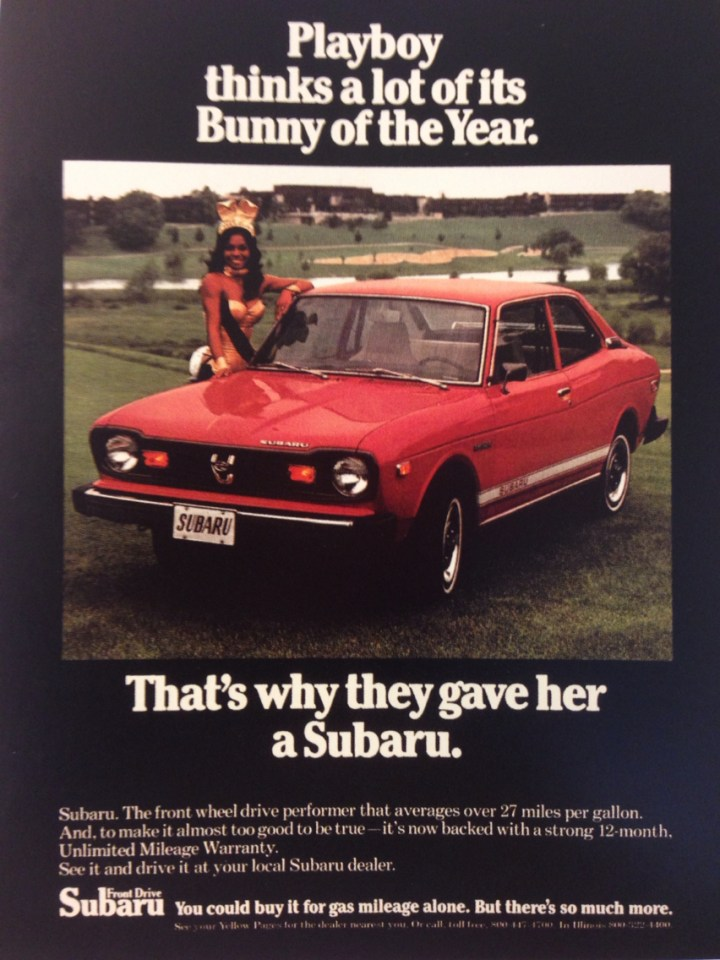 Subaru GL 1970 playboy bunny