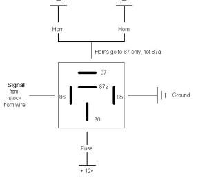 FIAMM relay wiring diagram  Subaru Outback  Subaru