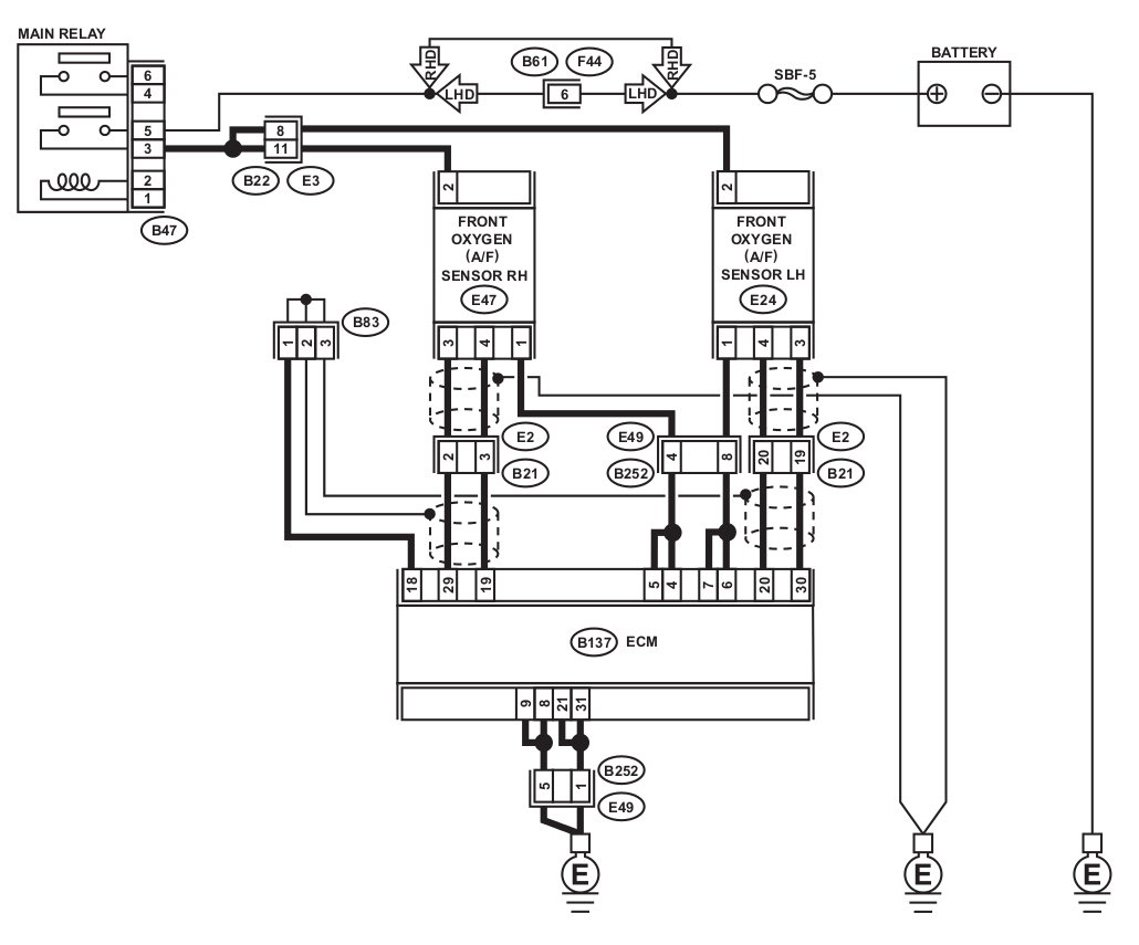 5 Wire O2 Sensor Diagram