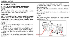 Headlight adjustments  Subaru Outback  Subaru Outback Forums
