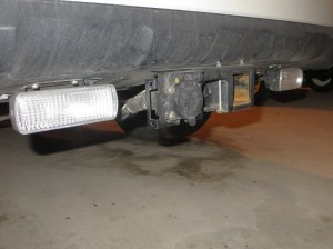 Trailer hitch install, trailer wiring, and auxiliary reverse lights installation  Subaru