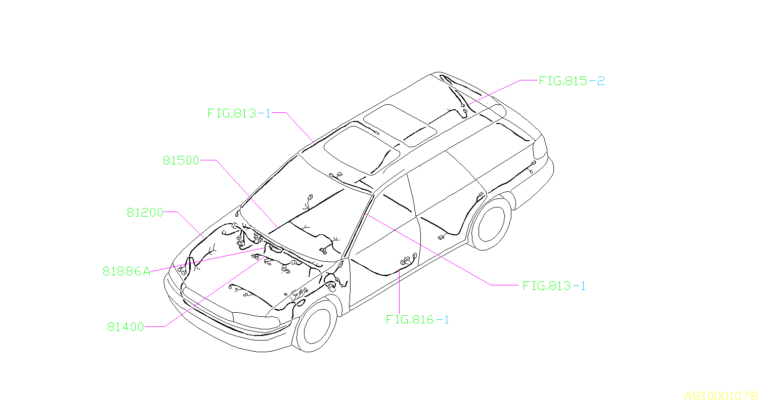 Subaru Legacy Harness Bulkhead U0u1 Main Wiring