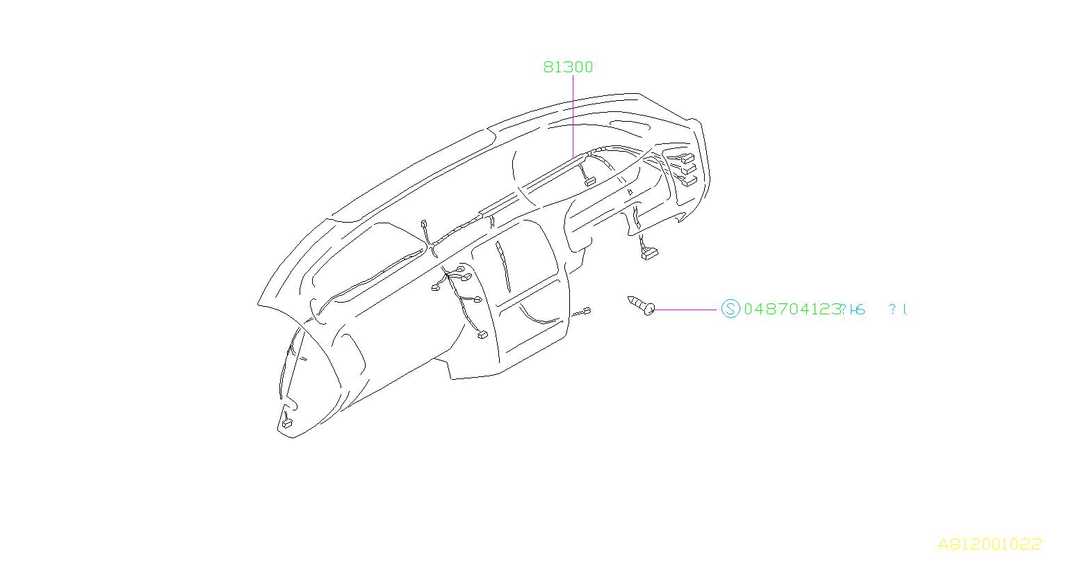 Subaru Legacy Harness Instrument Panel Out Back U0u1