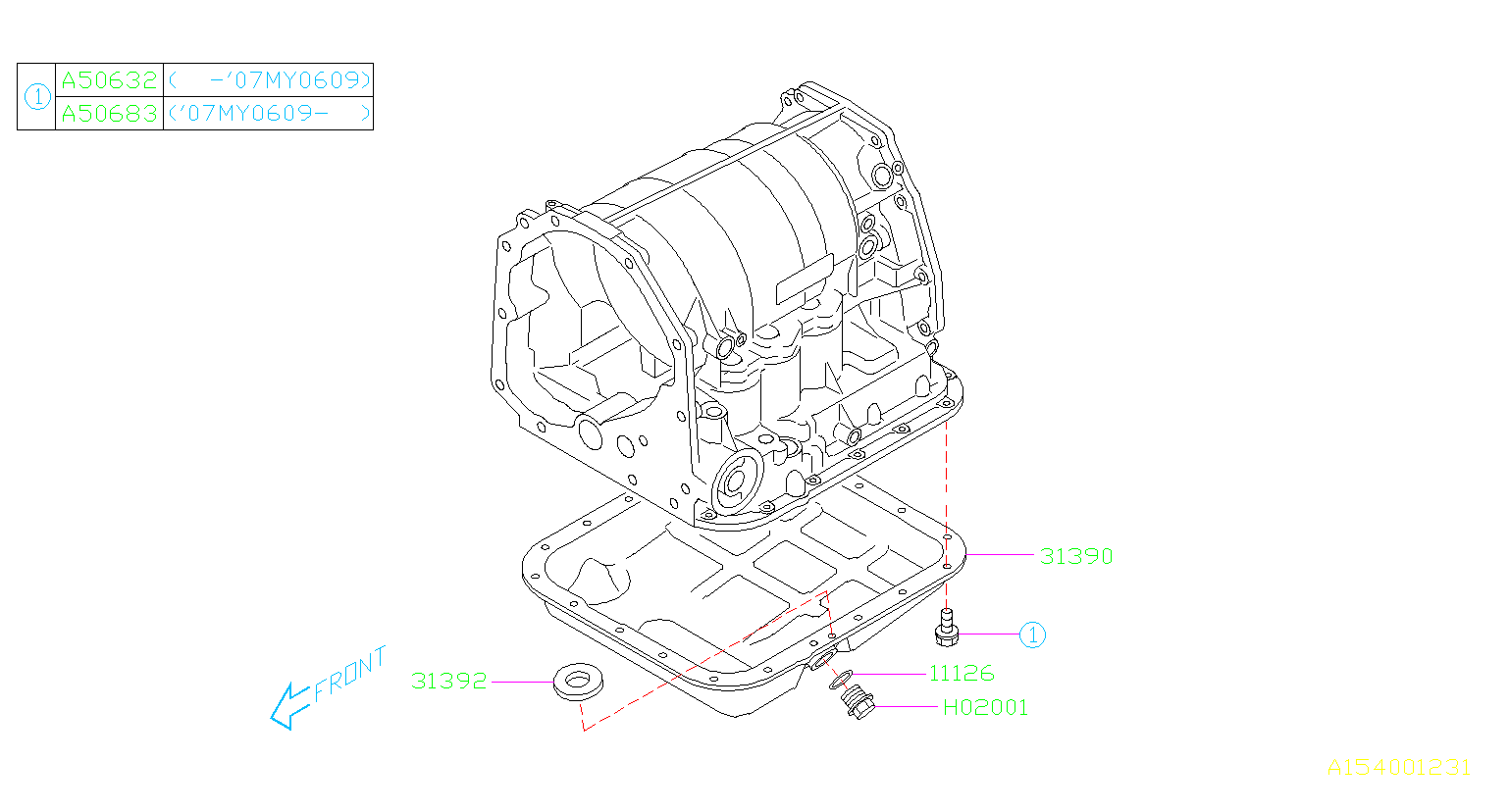 Subaru Outback Pb Gasket Drain Plug Transmission