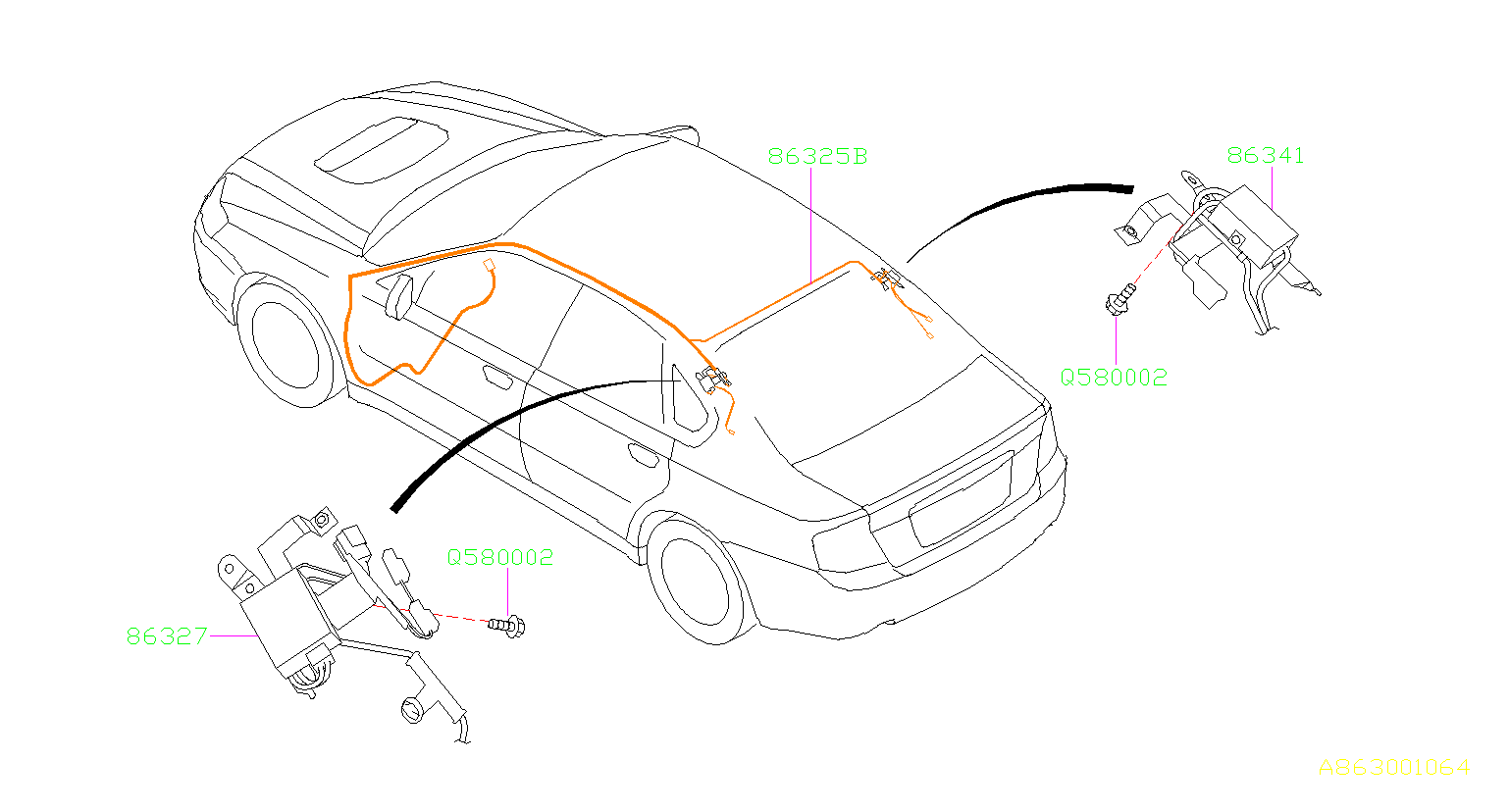 Subaru Outback Noise Suppressor Assembly Antenna