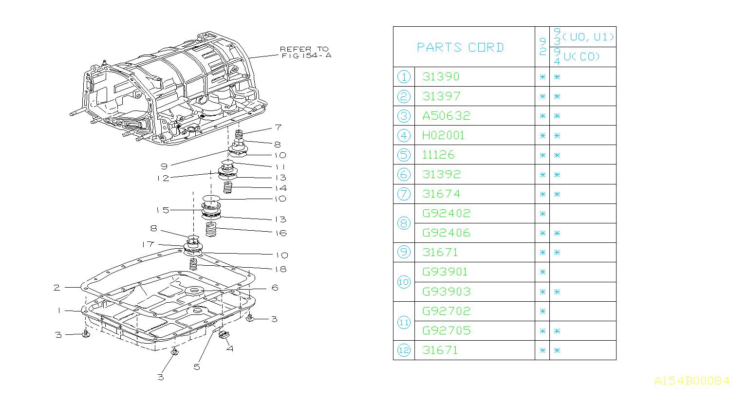 Subaru Svx Automatic Transmission Oil Pan Gasket 02 18