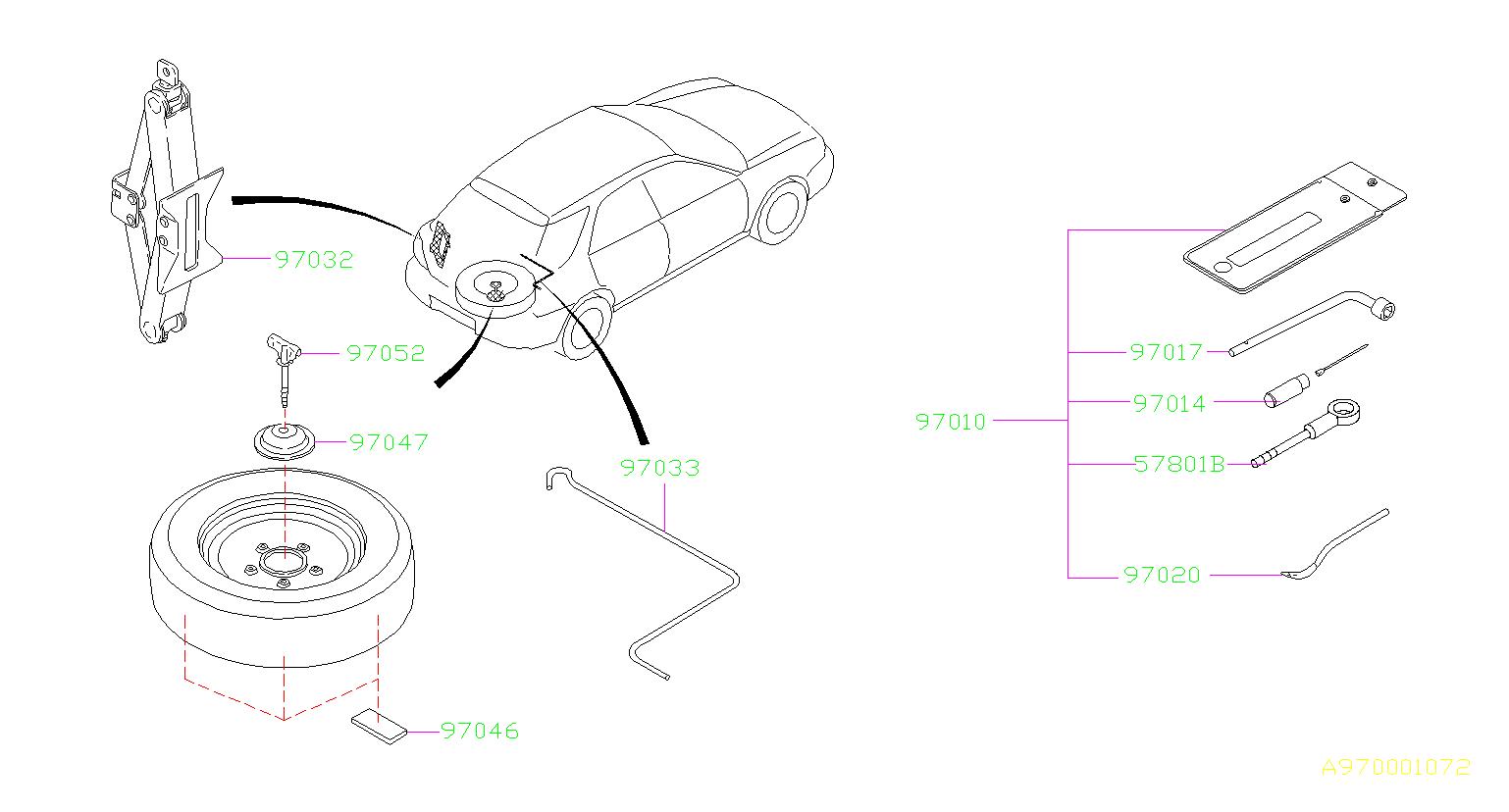 Subaru Impreza Tool Kit Jack