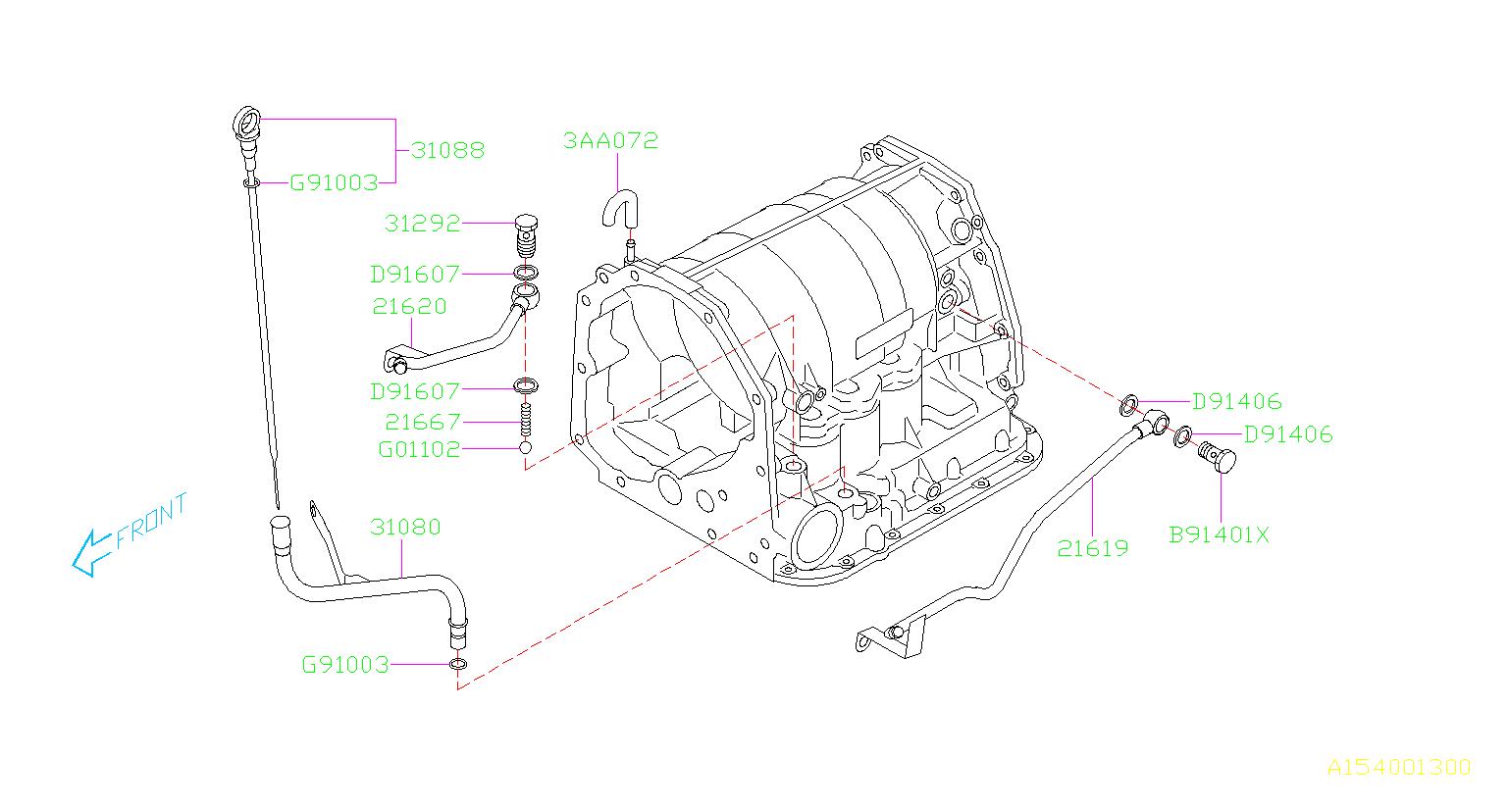 Subaru Impreza Gauge Assembly At Fluid Level Transmission