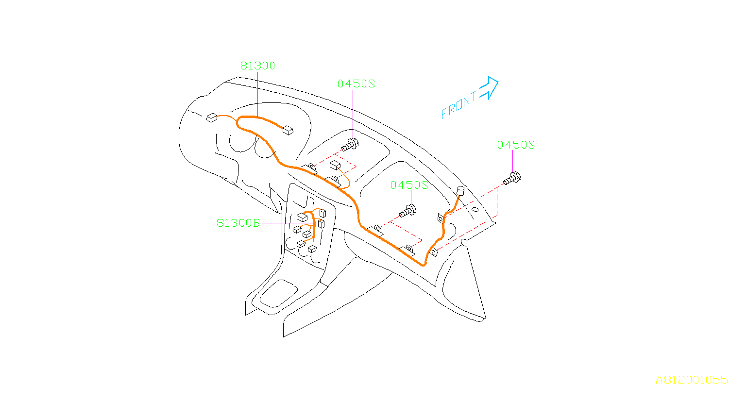 Subaru Forester Harness Instrument Panel Wiring