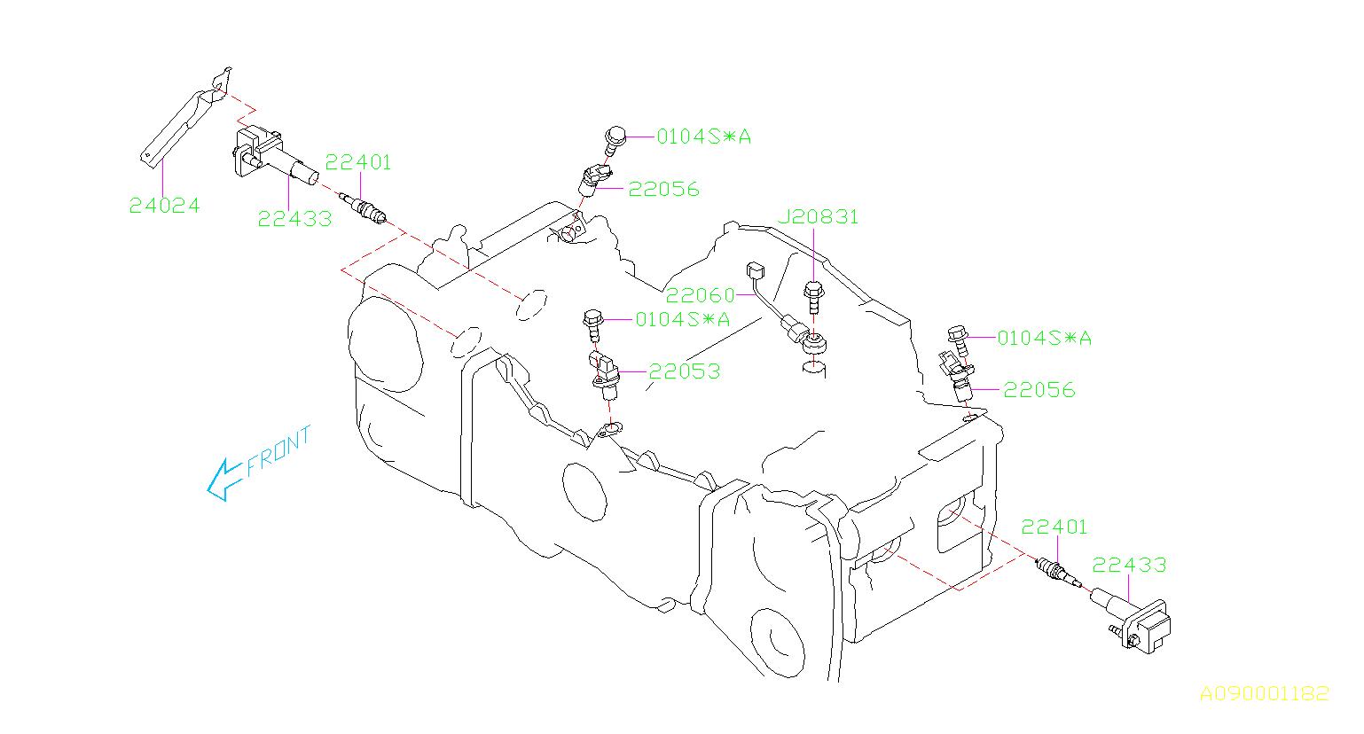 Subaru Forester Engine Control Module Bracket