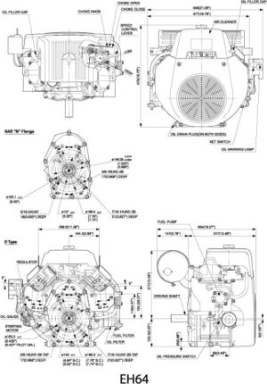 EH64 Small OHV VTwin Engine Technical Information | Subaru