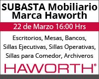 Subasta de Mobiliario Haworth