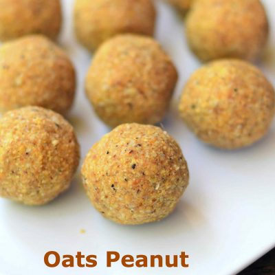 Oats Peanuts Ladoo - Subbus Kitchen