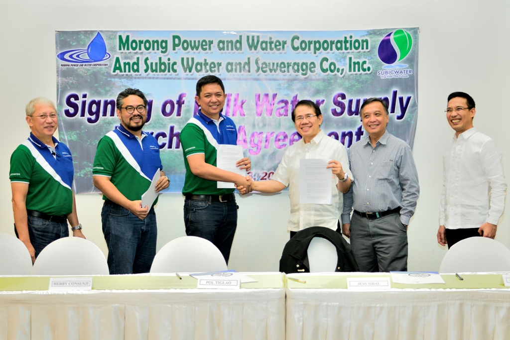 Subicwater Morong Bulk Water Supply Agreement Subicwater