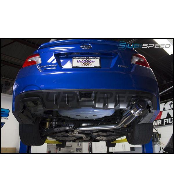 invidia n1 resonated single exit exhaust polished or titanium tip 2015 wrx 2015 sti