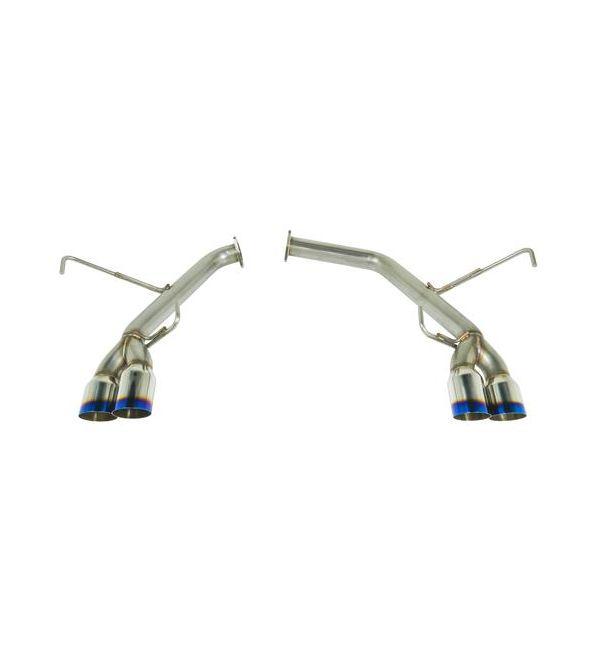 remark 15 18 subaru spt wrx sti axle back exhaust w stainless steel double wall tip