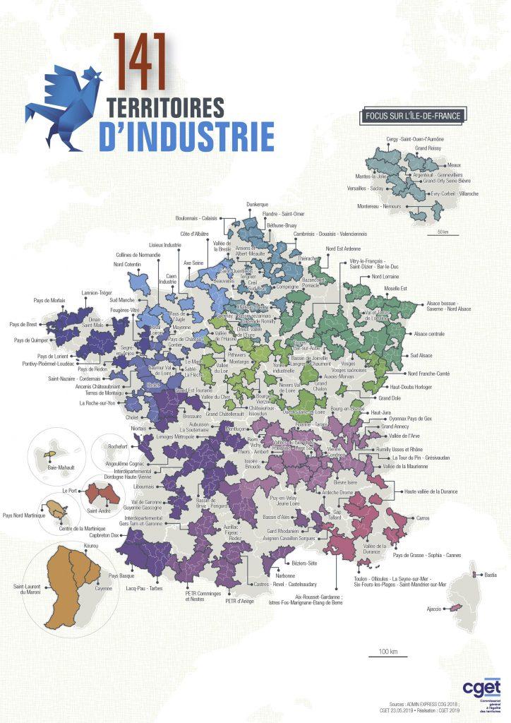 141 territoires d'industrie