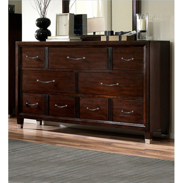 NINE CHEST OF DRAWERS
