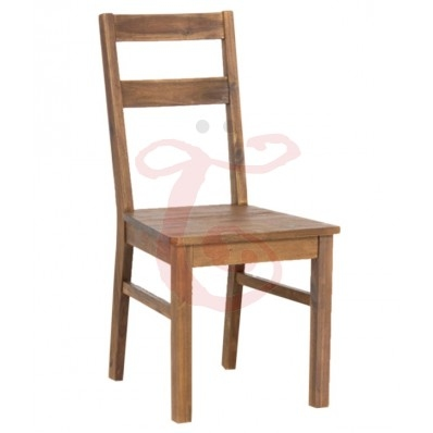 WOOD SLEEK DINING CHAIR WITH NATURAL FINISH