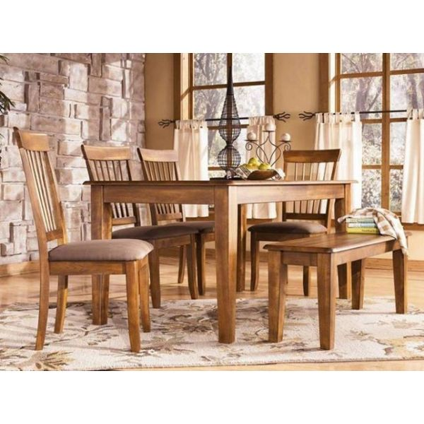 FOUR SEATER DINNING SET WITH BENCH