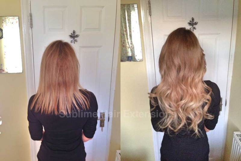 Micro Bead Hair Extensions On Short Hair Before And After