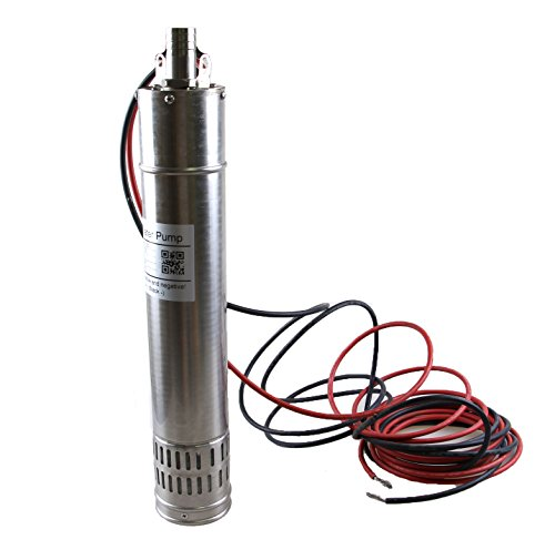 HSH-Flo DC 24V Brushless Solar Water Pump 3000L/H 20m Head Submersible Deep Well Pump Solar Powered Pump
