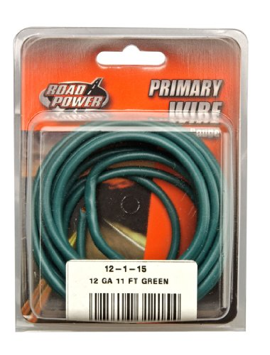 Coleman Cable 12-1-15 Copper Primary Wire, 12-Gauge, Green, 11-Foot