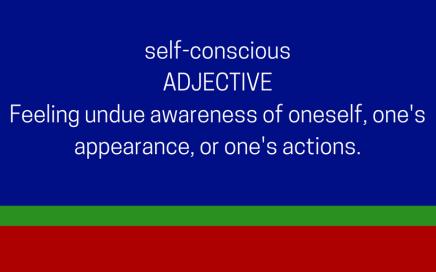 self-conscious dictionary definition