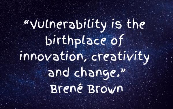 V is for Vulnerable - Brene Brown Quotation