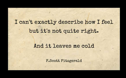 process emotions - F Scott Fitzgerald quote