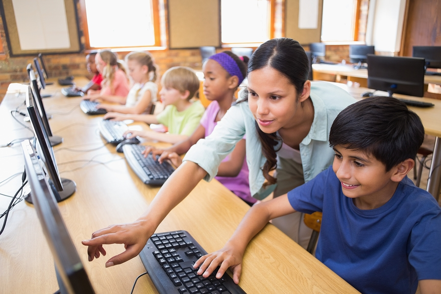 Image result for teacher and student on computer